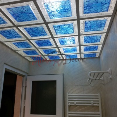 پنل پلکسی سقفی طرح کیوب توپر