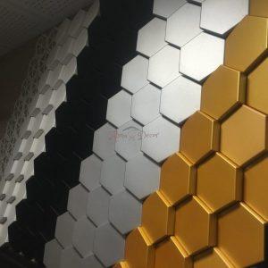 دیوارپوش طرح کندوی زنبور عسل