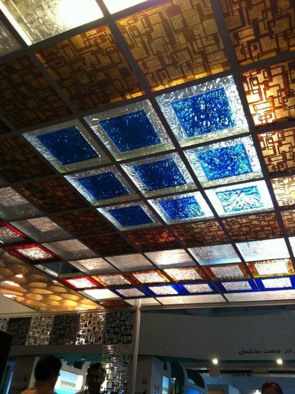 پانل پلکسی سقفی طرح کیوب توپر