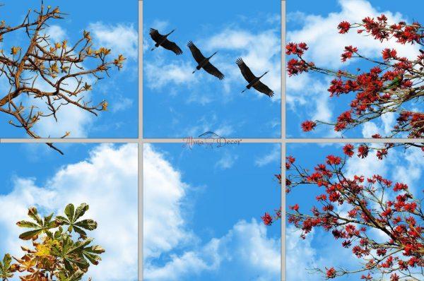 پنل آسمان مجازی طرح پرنده