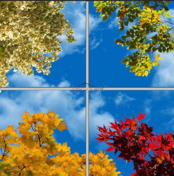 پنل آسمان مجازی طرح برگ پاییز